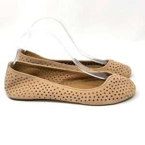 Lucky Brand Enorahh Perforated Flats Women 8.5